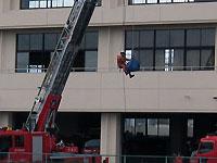 消防士さんの訓練風景