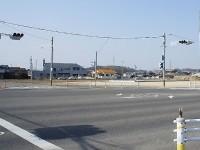 瀬戸大府線脇に工事中のセブンイレブン