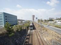 跨線橋からみた米野木駅
