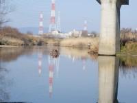 陽気な天白側に写る橋