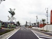 丁子田の交差点まで道路が抜けた