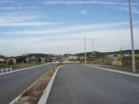 米野木駅の北側にある新しい交差点南向き