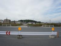 米野木駅の北側にある新しい交差点西向き