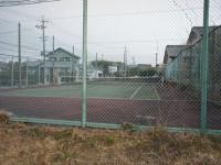 1面だけのテニスコート