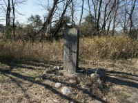 千子池と愛知用水石碑2
