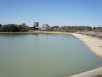 千子池と愛知用水石碑1