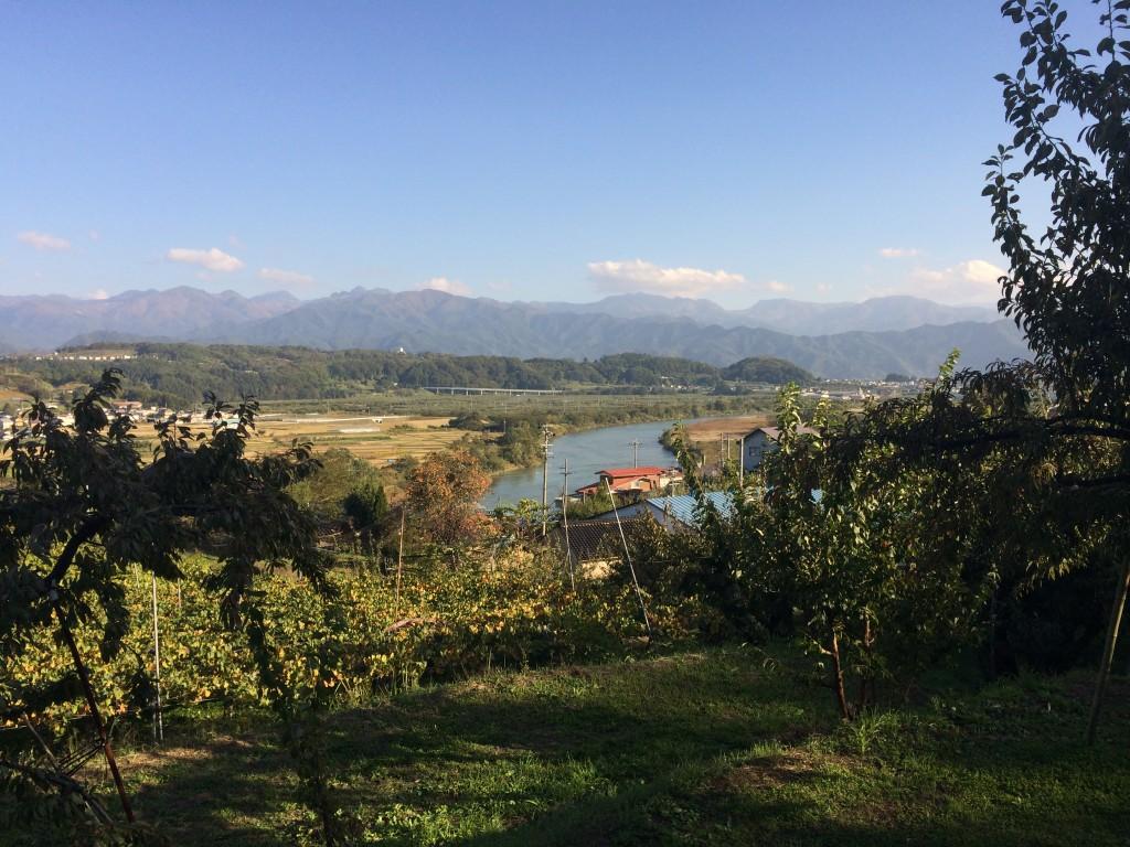 長野県中野市りんご農家阿藤さんの風景